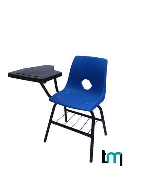 silla metálica con concha y paleta de polipropileno 510